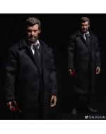 Eleven 1/6 Scale Black Trench Coat