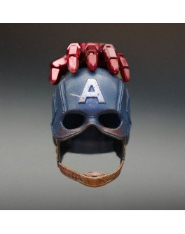 Custom 1/6 Scale Battle Damaged Civil War Helmet For Display Only