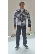 OSK1502388 Custom 1/6 Scale Checker Shrit + Jean Set