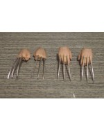 Custom 1/6 Scale Clawed Hands x2 Pairs Fist + Relax Palm