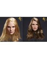 OSK1711263 Custom 1/6 Scale Female Head Sculpt in 2 Hair Styles