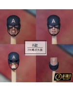 Manipple MP22A 1/12 Scale Helmeted head sculpt set
