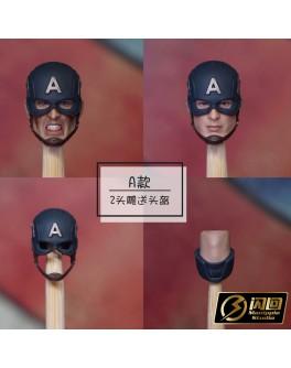 Manipple MP22A 1/12 Scale Helmeted head sculpt set