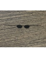 Custom 1/6 Scale Black Metal Sunglasses Flat shape