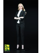AFS A012 1/6 Scale Female Business Suit Set in Black