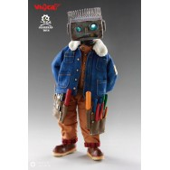 Whycat & GEARHEADTOYS 1/6 Scale ClumsyBot Repairman little curly Curry