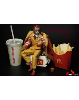 Fire A015 1/6 Scale Burger Uncle Double Head Sculpt + Accessories Pack