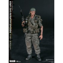 DAM PES006 1/12 Scale ARMY 25th Infantry Division Private STAFF SERGEANT