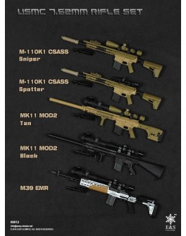 Easy & Simple 1/6 Scale 06012 Rifle Set in 5 Styles
