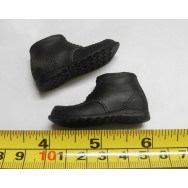 Custom 1/6 Scale Weathering Effect Black Sturdy Hiking Boots
