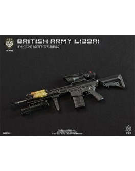 Green Wolf 1/6 Scale British Army L129A1 BLK Sharpshooter Rifle