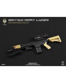 Green Wolf 1/6 Scale British Army L129A1 TAN Sharpshooter Rifle
