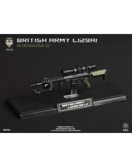 Green Wolf 1/6 Scale British Army L129A1 OD Sniper Rifle