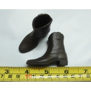 Custom 1/6 Scale Weathering Effect Brown Cowboy Boots / Work Boots