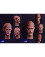 First Rate 1/6 Scale Burned Male Head Sculpt Double Pack