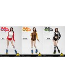 Flirty Girl 1/6 Scale Roller Girl Costume set in 3 versions