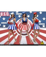 FLIRTY GIRL 1:6 Scale U.S.O Cosplay Clothing set in 3 Styles