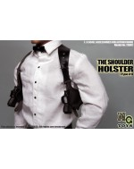 MG Toys 1/6 Scale Mens Black Shoulder Holster Set