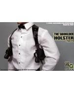 MG Toys 1/6 Scale Mens Black Shoulder Holster Set