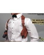MG Toys 1/6 Scale Mens Brown Shoulder Holster Set