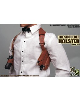 MG Toys 1/6 Scale Mens Brown Shoulder Holster Set