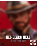 Limtoys 1/6 Scale Mid-beard head sculpt for Gunslinger