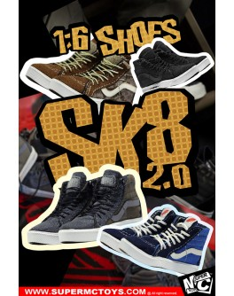SuperMcToys F072 1/6 Scale SK8 Shoes 2.0 in 4 Styles