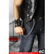 SuperMCTOYS 1/6 Leather Sleeveless Moto Jacket Set for M34/M35 body