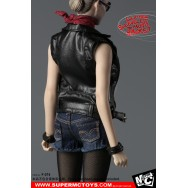 SuperMCTOYS :1/6  Leather Sleeveless Moto Jacket Set