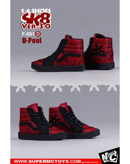 SuperMcToys F081 1/6 Scale SK8 Shoes 3.0 Set D