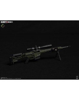 Officially Licensed MSE 1/6 Scale OD Green Barrett MRAD Sniper Rifle