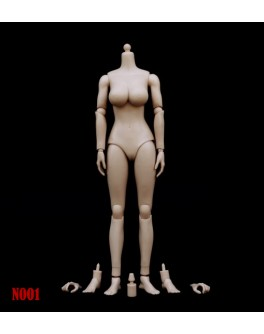 Custom 1/6 Female Figure Body N001 Medium-Large Breast Pale/Light Tan Skin Tone
