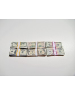 "Highly Detail 1/6 Scale Cash Dollar Stack X6 For 12"" Action Figure Accessories"