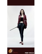 POPTOYS 1/6 F15B The Nikita female agents leather coat suit in red