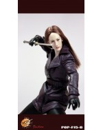 POPTOYS 1/6 F15D The Nikita female agents leather coat suit in purple
