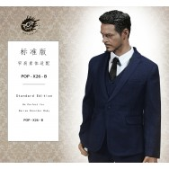 POPTOYS 1/6 Scale X26 Standard Western-style suit B Navy Blue
