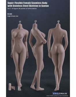 TB League S12D 1/6 Scale Seamless Female Body Large Breast Suntan Skin
