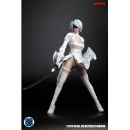 Super Duck SET026 1/6 Scale White Sexy Robot Costume Set