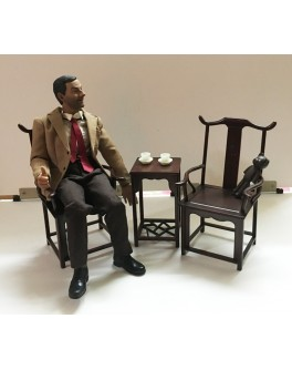 Custom 1/6 Scale Chinese Style Chair and Table Set