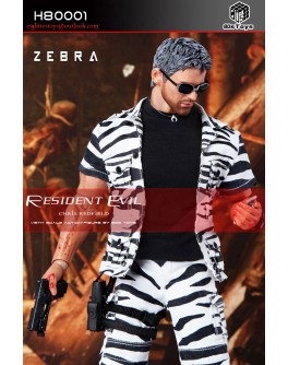 80s Toys: H80001 Chris Redfield (Zebra Suit Version) Action Figure