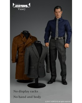 VORTOYS V1007 1/6 Scale Advanced Muscular Body Suit Set W/ Trench Coat