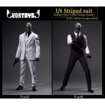 VORTOYS V1025 1/6 scale stripe suit set in 2 styles