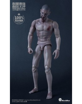 WorldBox AT019 1/6 Scale Zombie Head Sculpt + Body Set