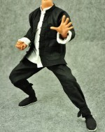 ZY Toys 1/6 Scale Set of Black Chinese Kong Fu Costume Set