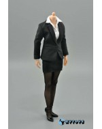 ZYTOYS 1/6 Scale Female Black Suit Set B