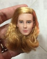 CUSTOM 1/6 Blonde Hair Smile Face Female Head Sculpt