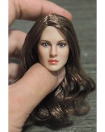 OSK1612006 Custom 1/6 Scale Brown Hair Female Head Sculpt