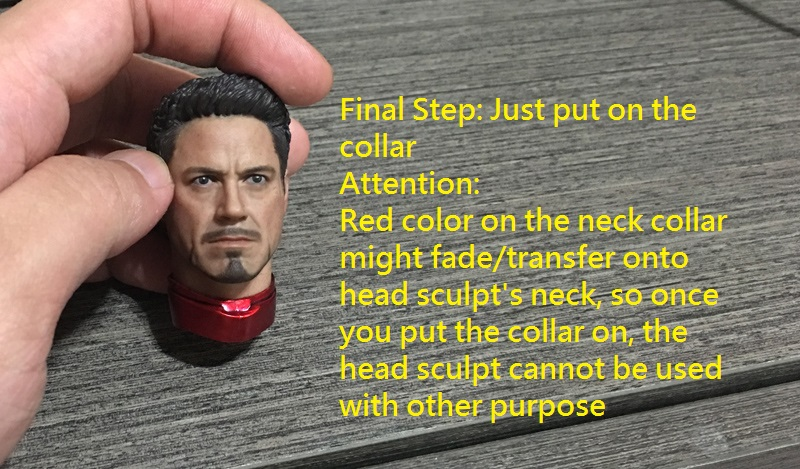 Custom 1//6 Scale Neck Collar Set For Head Sculpt Connecting To Ironman Figure