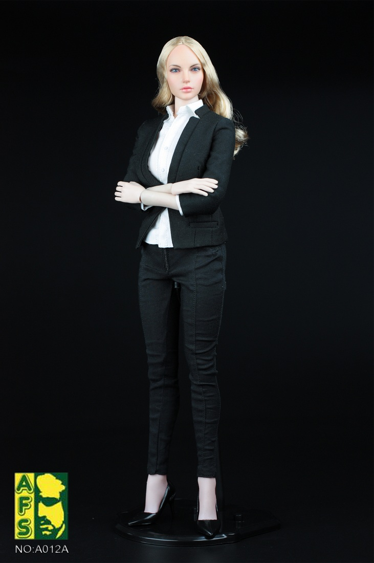 Afs A012 1 6 Scale Female Business Suit Set In 3 Colors A Black