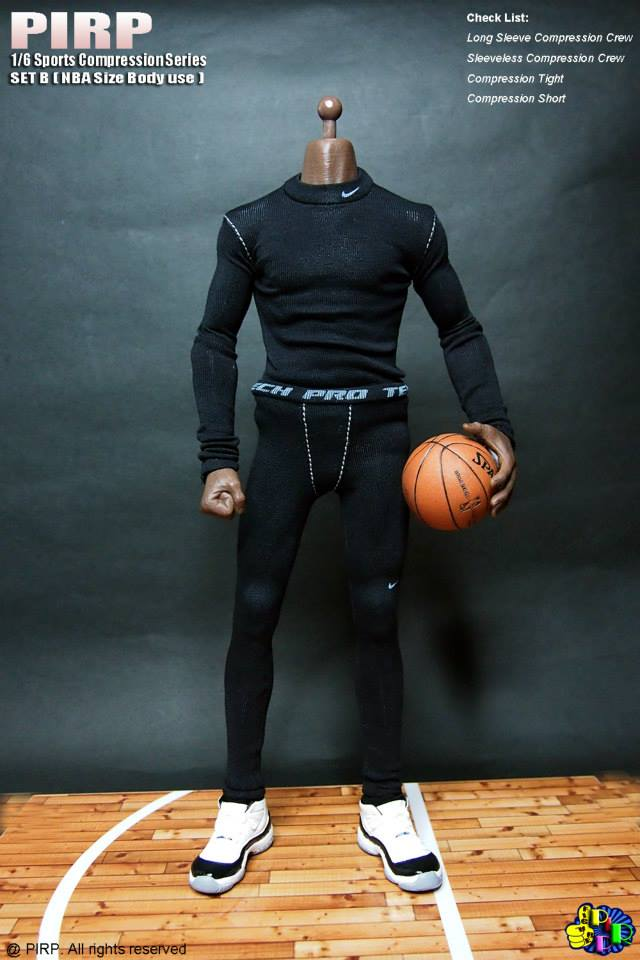 PIRP 1//6 Scale Sport Compression Series Set B For EnterBay NBA Size Figure Body